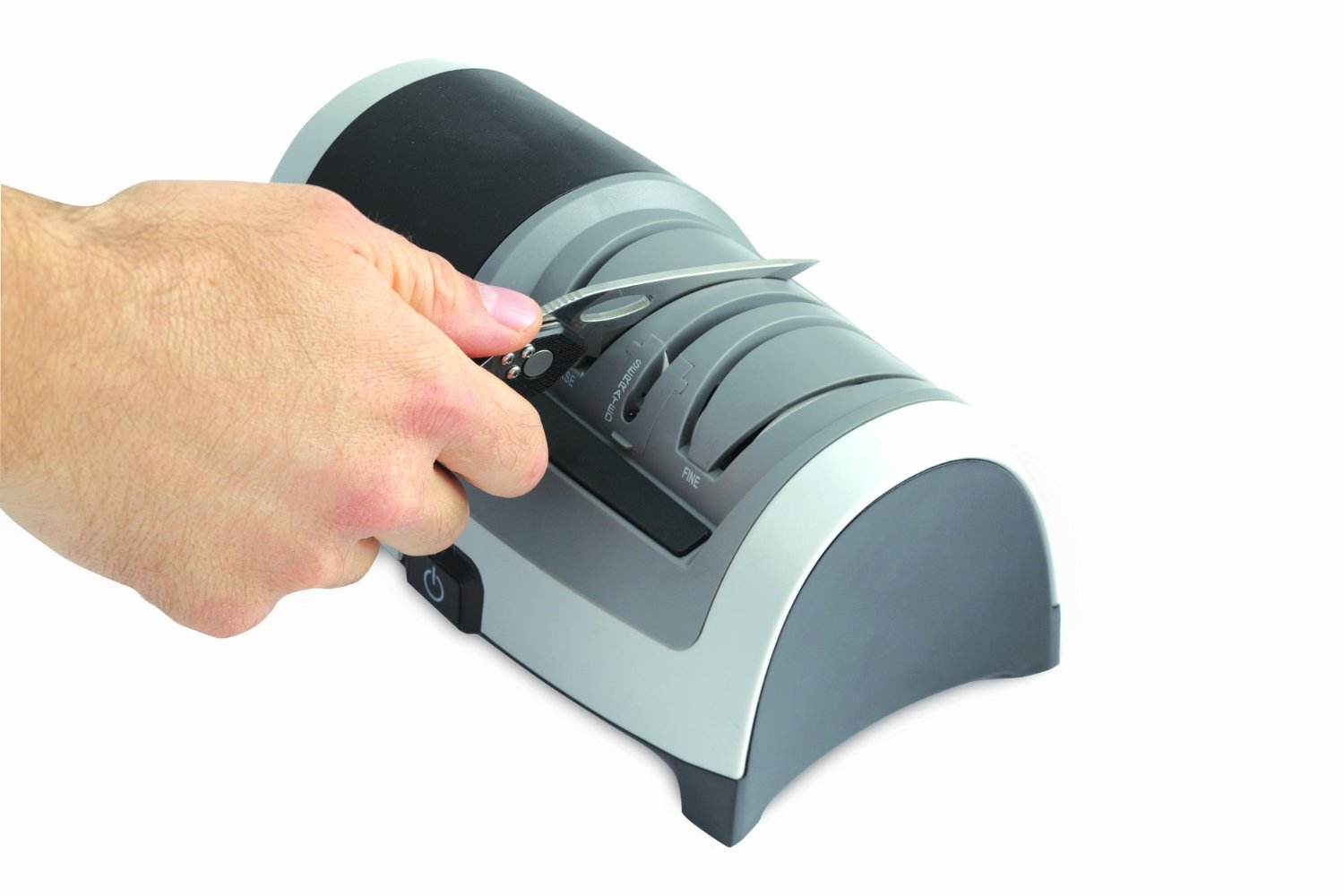 An Electric Sharpener That Comes With A Manual Sharpening Slot