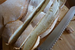 Cutting A Loaf Of Bread Is Much Easier & Better Suited For A Serrated Edge