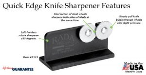 Like Other Pull Throughs, The Rada Quick Edge Is Easy To Use