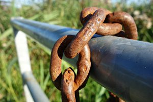 Here We Can See That Rust Has Already Developed On This Chain Link
