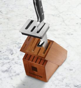 Calphalon Knife Block With A Built In Ceramic Sharpener