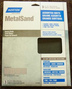 Emery Is A Great Abrasive To Finish Metals. I Paid About $6 For This 3 Pack Of Coarse , Medium, And Fine Grits.