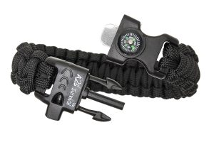 A2S Paracord: A Survival Bracelet That Features A Fire Starter, Knife, Compass And Whistle!