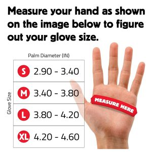 Measure Your Palm Diameter And Pick Your Size Accordingly!
