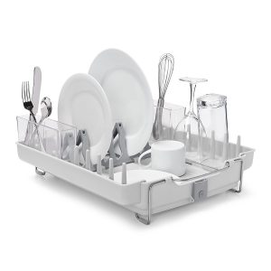 A Compact Dish Rack Perfect For Small Counters!