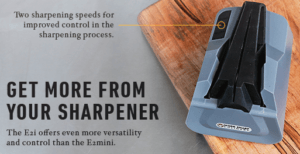 Work Sharp E2 Plus Sharpening Speeds